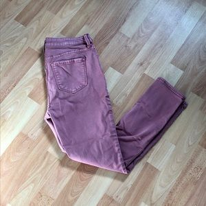 Dusty Rose Old Navy Rockstar Skinny Jeans